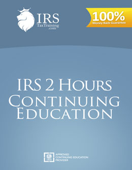 2018 IRS 2 hour Ethics Continuing Education