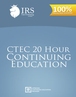 2018 CTEC 20 hour Continuing Education
