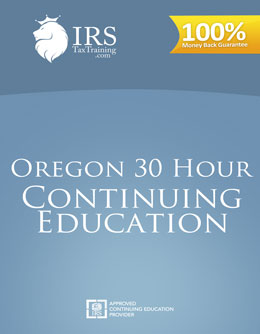 2017 Oregon 30 hour Continuing Education
